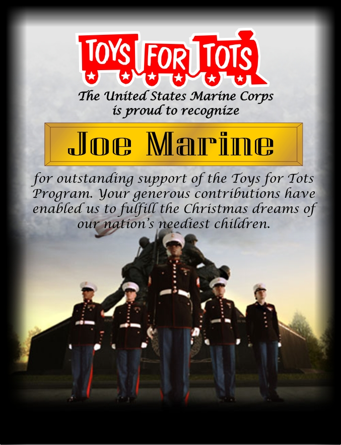 Toys For Awards : Toys for tots awards