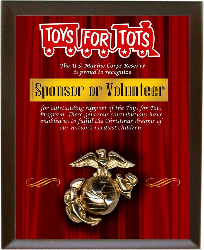 Toys For Awards : Toys for tots plaques