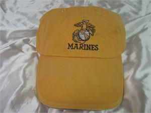 8dc63d5459af6 MARINES embroidered low-pro cap-1 Brush Yellow